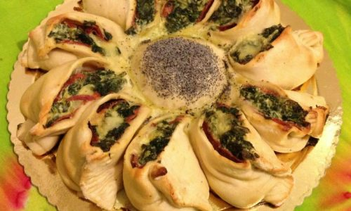 Torta rustica a forma di girasole ricetta di Pasqua