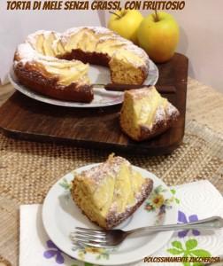 Torta di mele senza grassi con fruttosio ricetta light