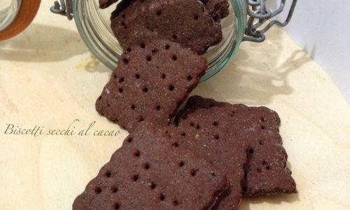 Biscotti secchi al cacao ricetta sana
