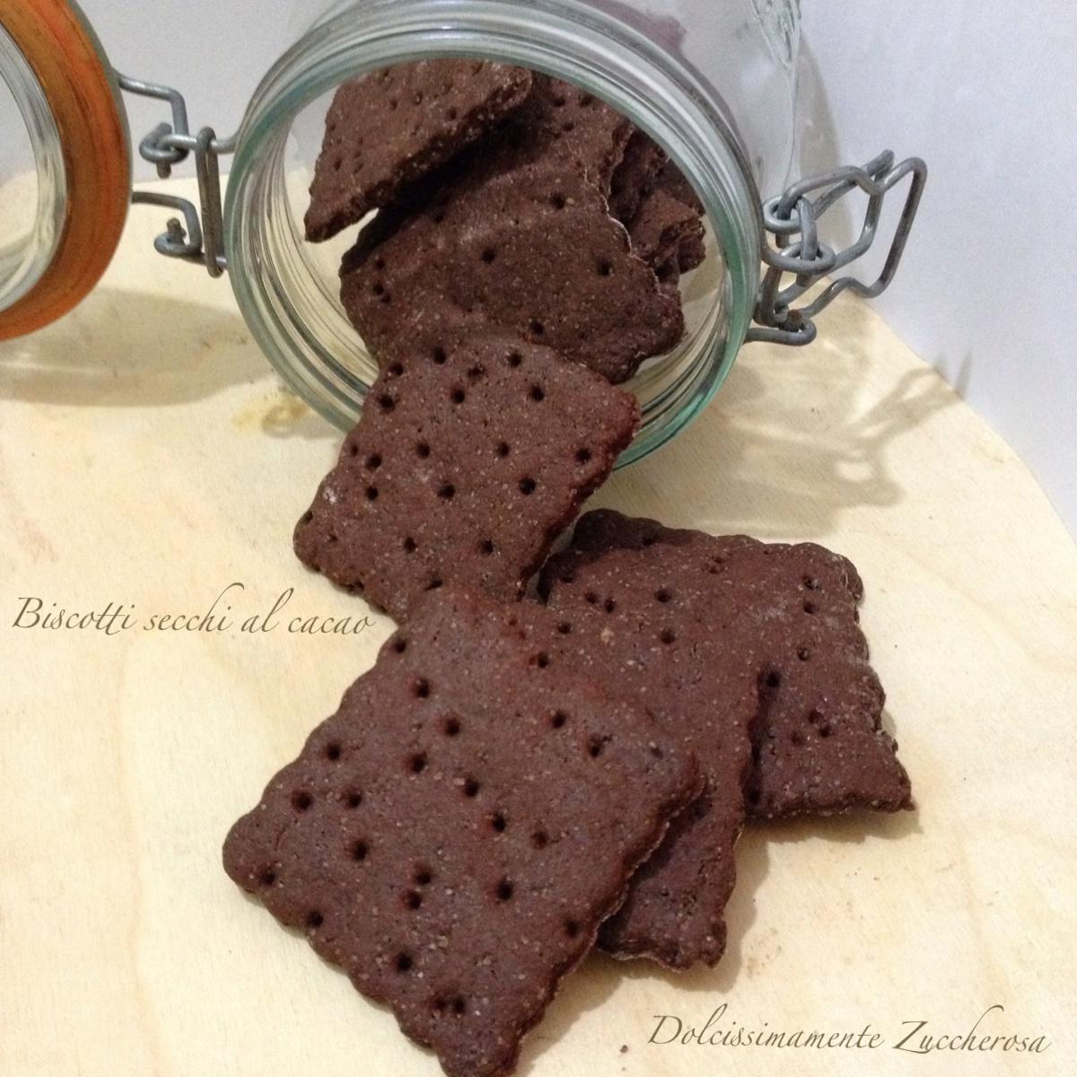 Biscotti secchi al cacao riBiscotti secchi al cacao ricetta sanacetta sana