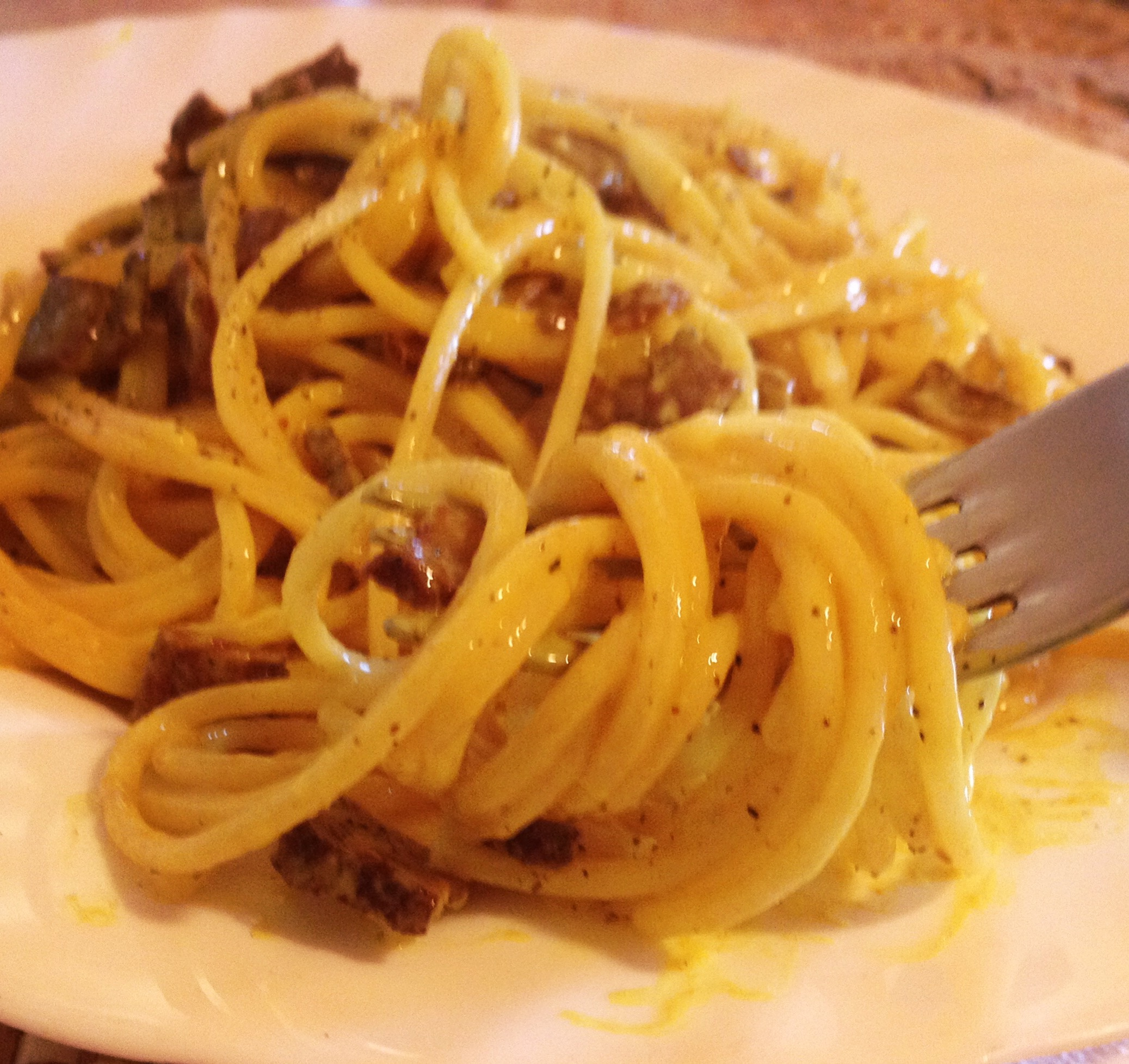 Spaghetti alla carbonara vegan ricetta