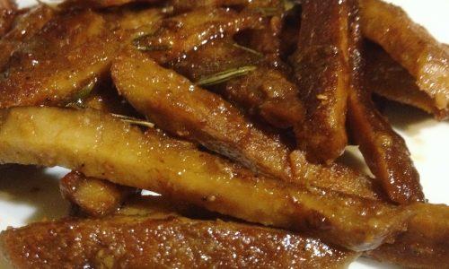 Straccetti di seitan al rosmarino ricetta vegan