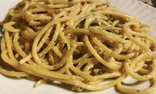 Pasta crema di anacardi e zafferano ricetta