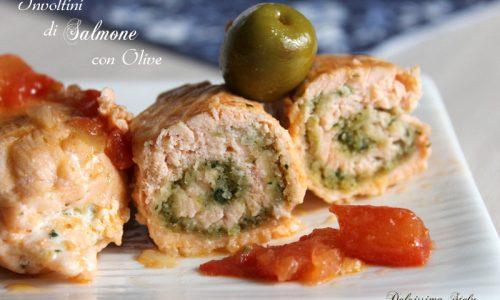 Involtini di Salmone con Olive