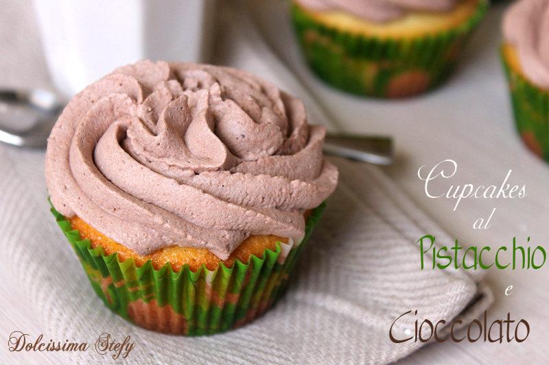 Cupcakes al Pistacchio e Cioccolato