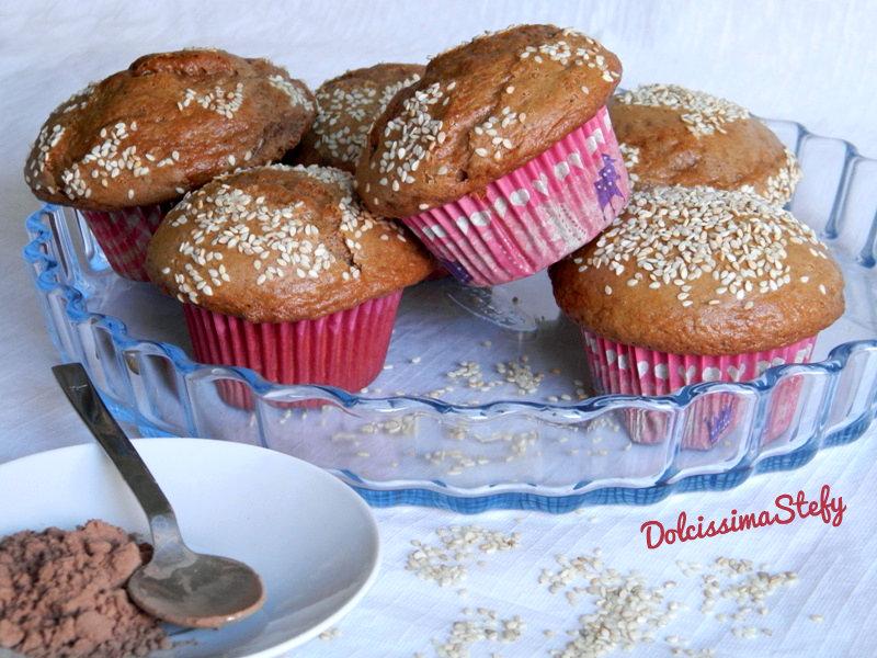 Muffin al sesamo e cacao