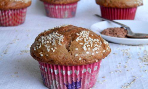 Muffin al Sesamo e Cacao,ricetta dolce