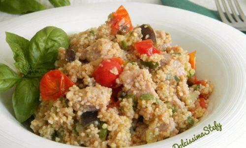 Cous Cous di Zucchine e Pollo,ricetta veloce