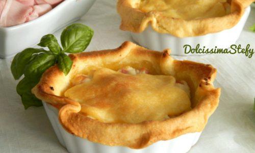 Torta di Ricotta,Pomodori e Prosciutto cotto,ricetta monoporzione