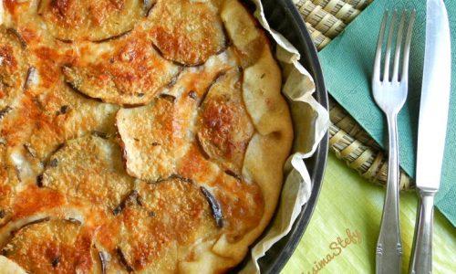 Torta di Melanzane e Formaggio,ricetta salata