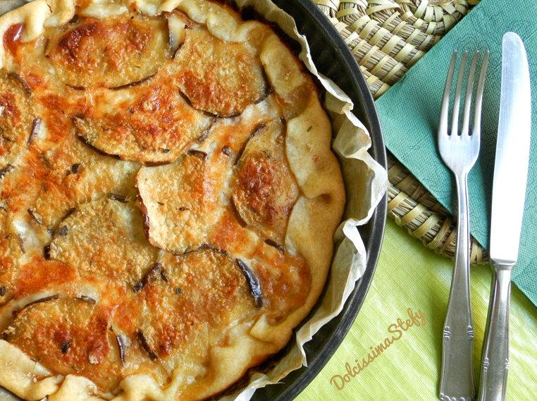 Torta di Melanzane e Formaggio,ricetta salata - Dolcissima Stefy