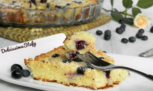Torta morbida al Cocco,Ricotta e Mirtilli,ricetta