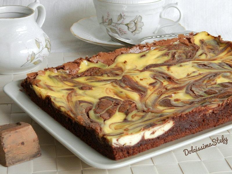 Brownies Cheesecake al cioccolato