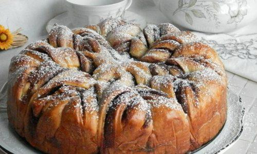 Fiore di Pan Brioche alla Nutella,ricetta e tutorial