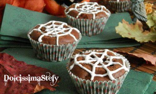 Ragnatele di Muffin,ricetta di Halloween