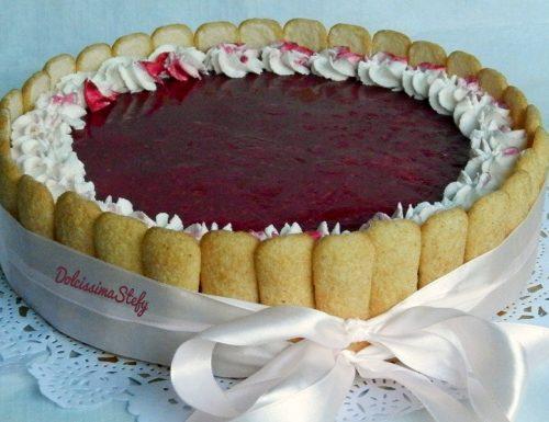 Cheesecake ai Frutti di Bosco,ricetta senza cottura
