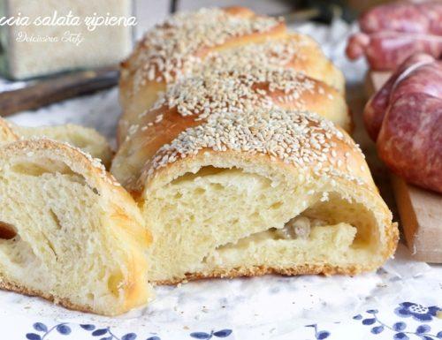 Treccia di Pan Brioche salato Farcito,ricetta e tutorial