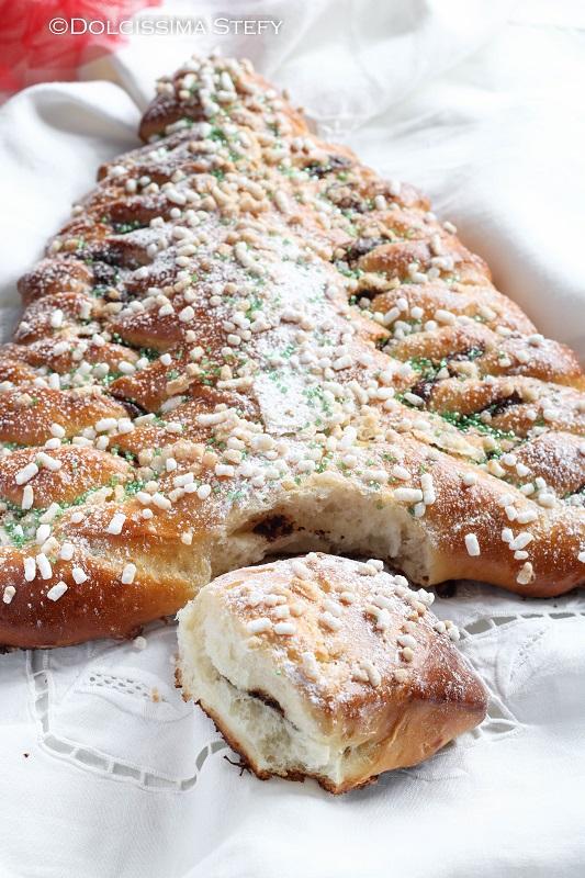 Albero di Pan Brioche alla Nutella dolcissima stefy