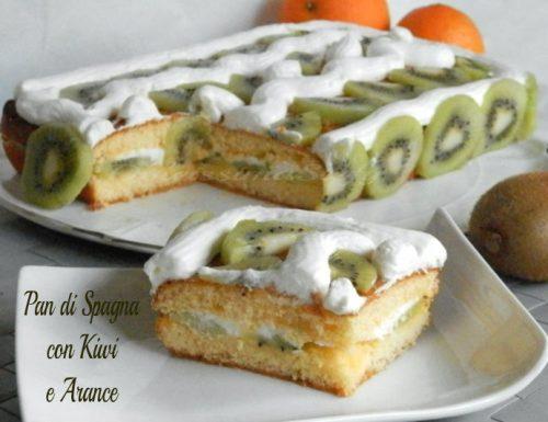 Pan di Spagna con Kiwi e Arance