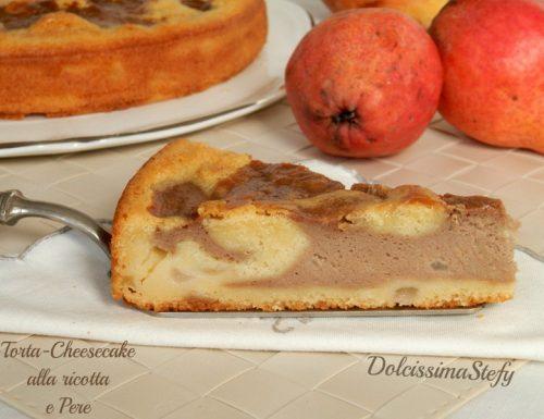 Torta-Cheesecake alla Ricotta e Pere