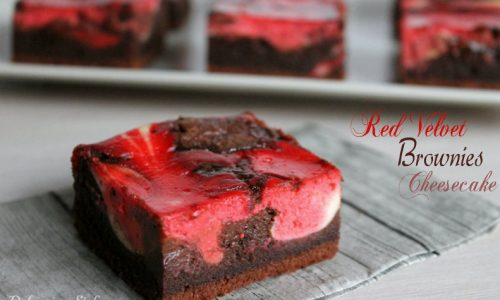 Red Velvet Brownies Cheesecake