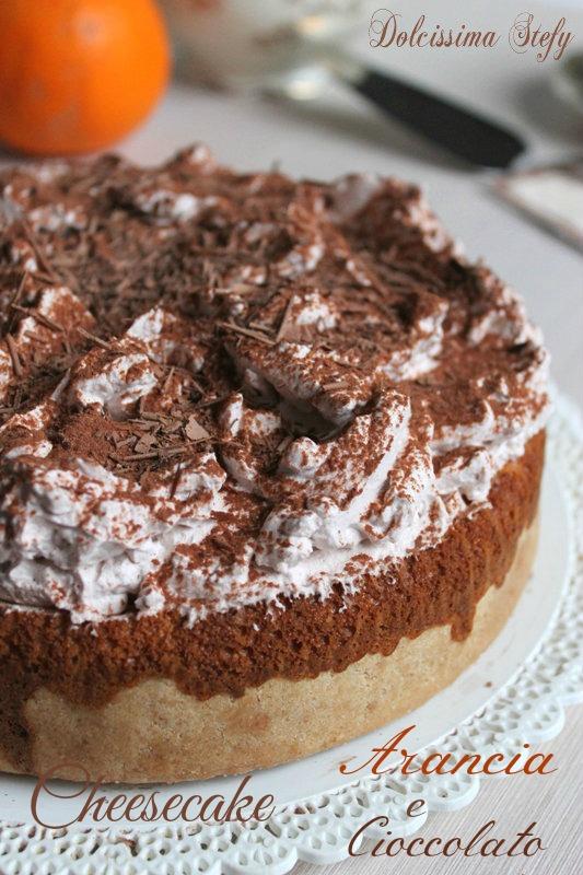 Cheesecake Arancia e Cioccolato
