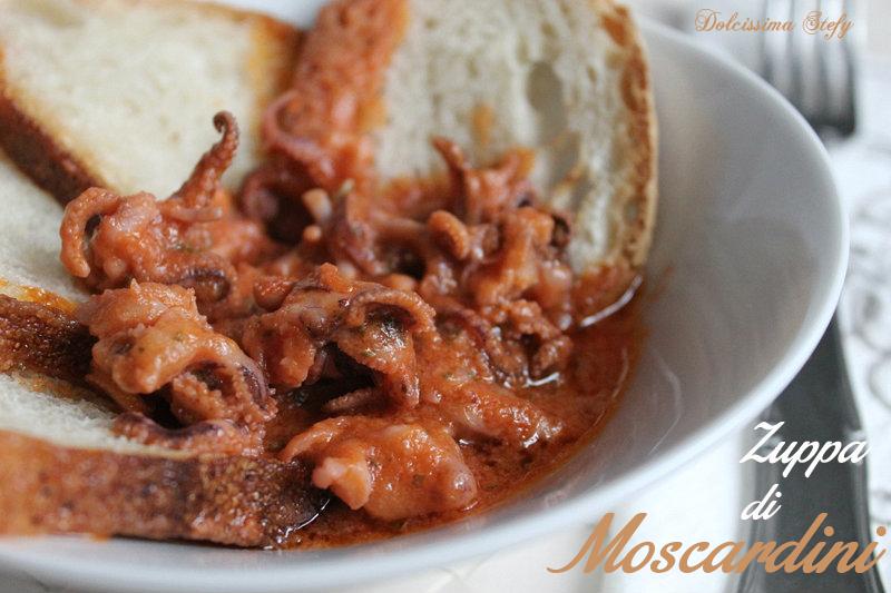 Zuppa di moscardini ricetta dolcissima stefy for Cucinare moscardini