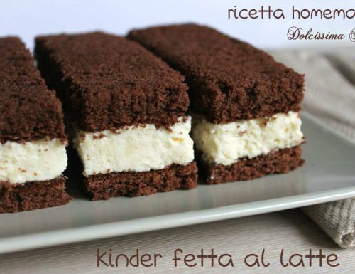 Kinder Fetta al Latte,ricetta Homemade