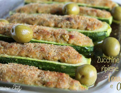 Zucchine ripiene di Tonno e Olive