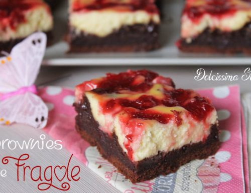 Brownies alle Fragole