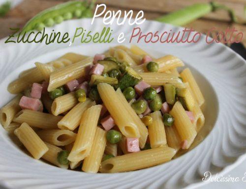 Pasta con Zucchine,Piselli e Prosciutto cotto