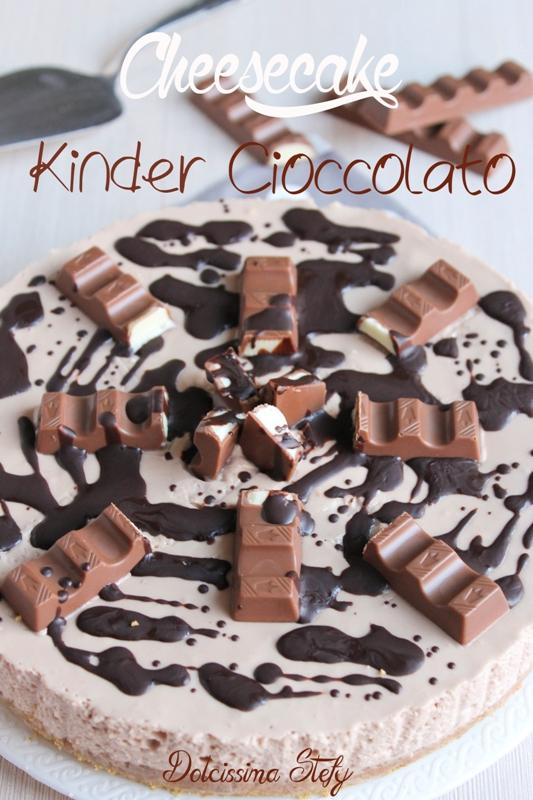 Favoloso Cheesecake Kinder Cioccolato,ricetta senza cottura- Dolcissima Stefy AB74