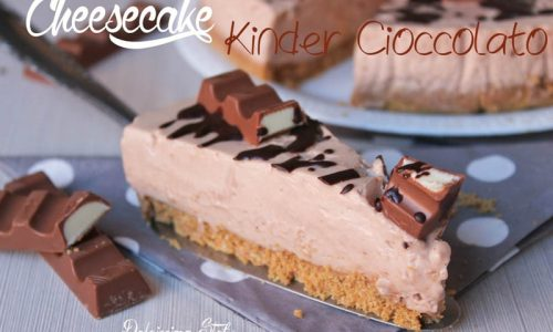 Cheesecake Kinder Cioccolato