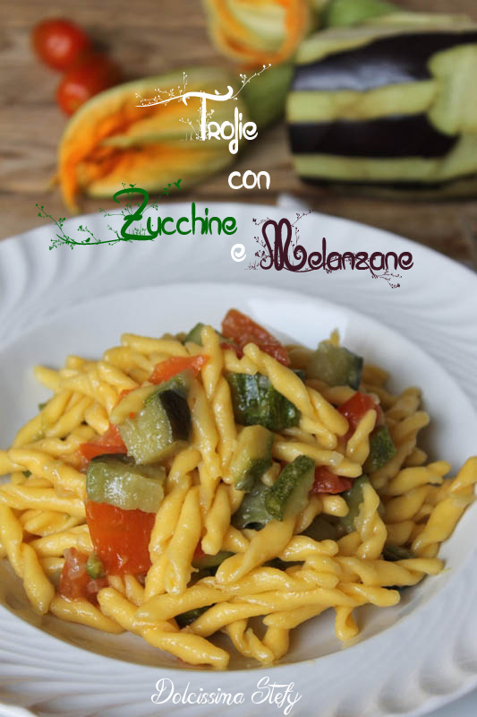 Trofie Zucchine e Melanzane,ricetta senza glutine
