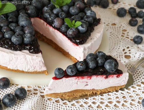 Torta fredda ai Mirtilli