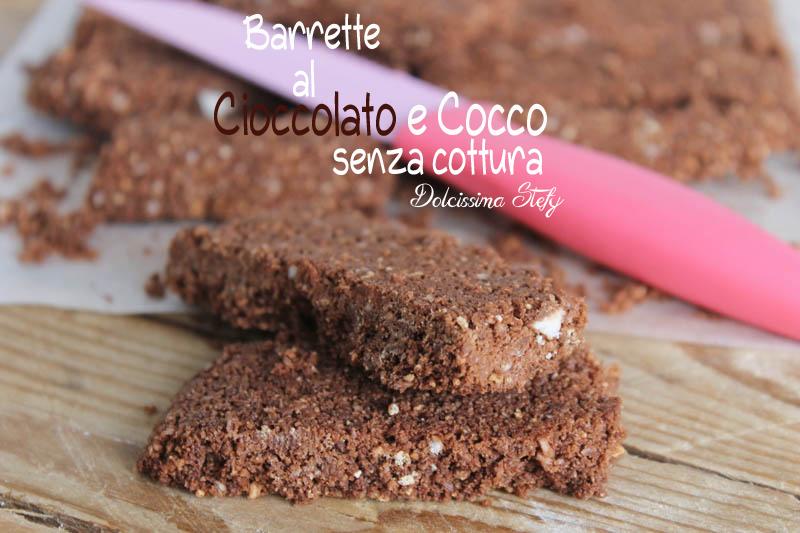 Barrette al Cioccolato e Cocco