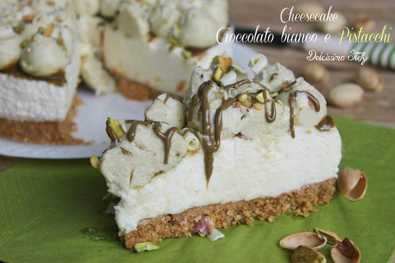 Cheesecake Al Cioccolato Bianco E Pistacchi