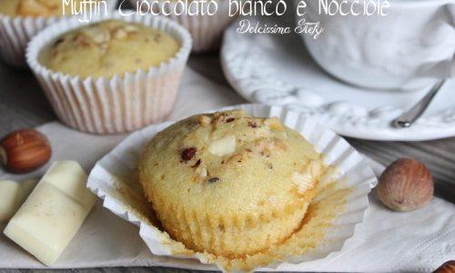 Muffin Cioccolato bianco e Nocciole