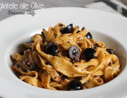 Tagliatelle alle Olive,Pasta fresca Homemade