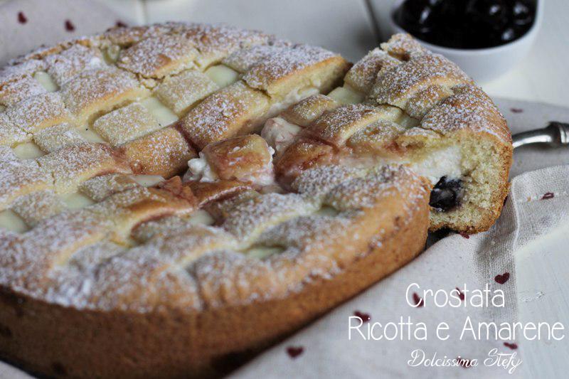 Crostata Ricotta e Amarene,ricetta - Dolcissima Stefy