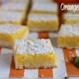 Orange Bars,dolcetti all'arancia