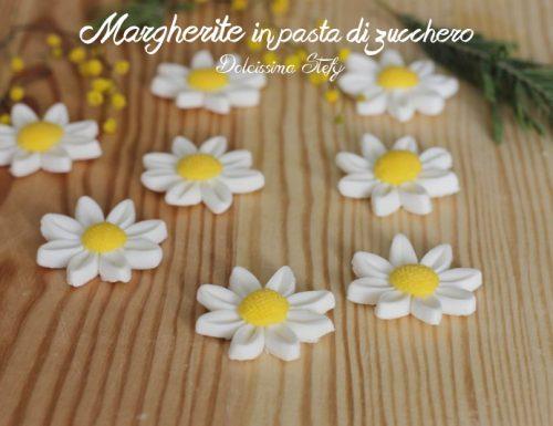 Margherite in Pasta di Zucchero, tutorial