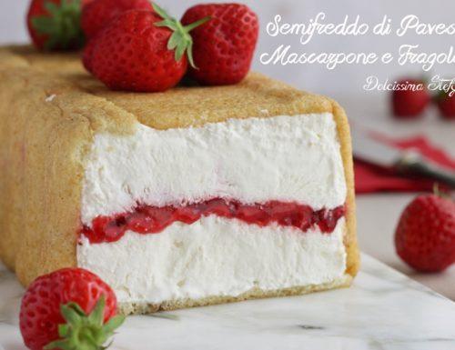 Semifreddo di Pavesini, Mascarpone e Fragole