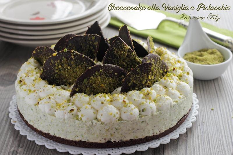 Cheesecake alla Vaniglia e Pistacchio senza cottura