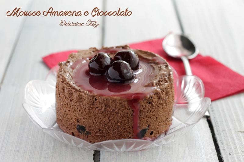 Mousse di Amarena e Cioccolato