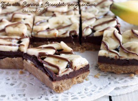 Torta alla Banana e Cioccolato senza cottura