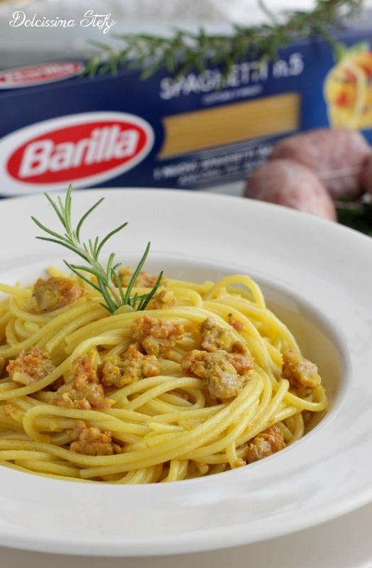 Spaghetti allo Zafferano e Salsiccia