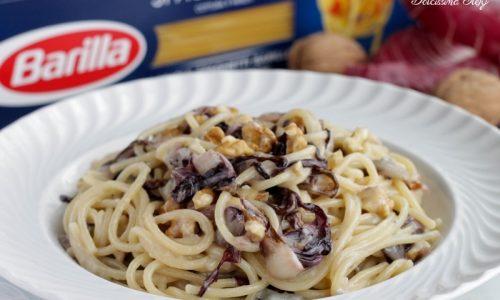 Spaghetti al Gorgonzola, Radicchio e Noci