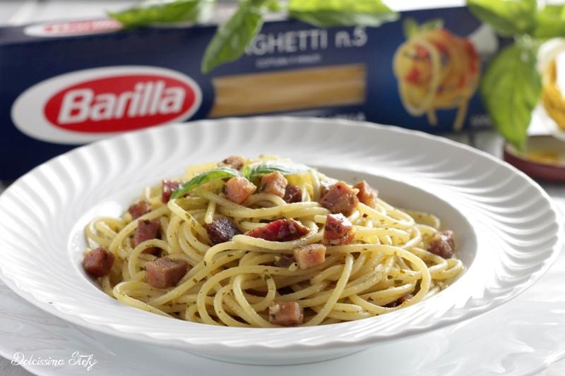 Spaghetti al Curry e Speck