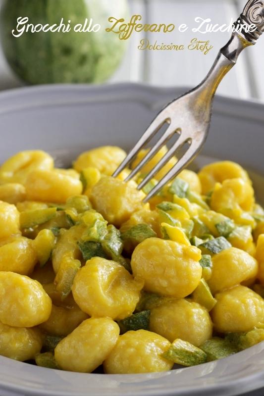 Gnocchi allo Zafferano e Zucchine
